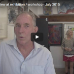 Ron Curran interview at exhibition / workshop - July 2015